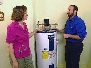 lakewood plumbing technician installs water heater
